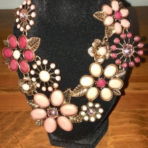 Stunning floral statement necklace